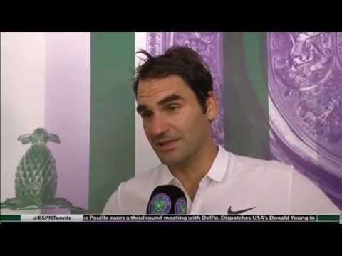 Roger Federer vs. Daniel Evans Post Match Interview - Wimbledon R3 2016