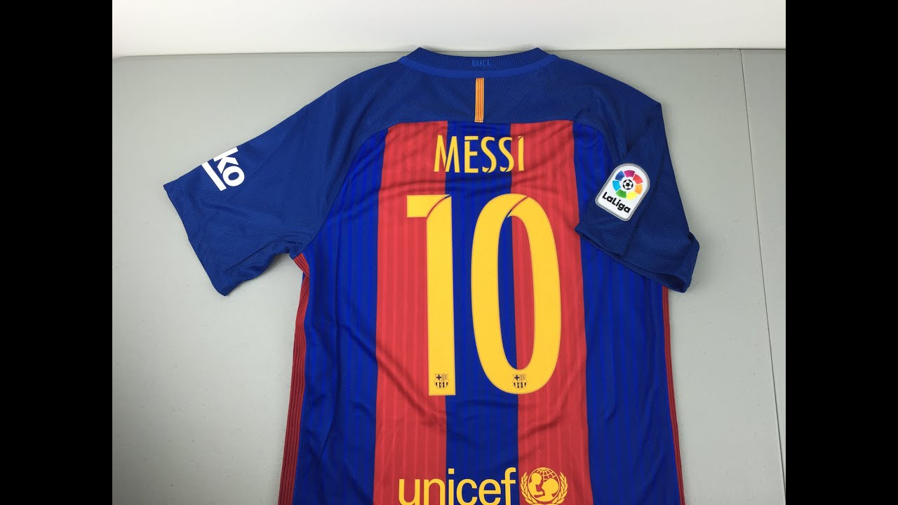 huge discount 80072 bb10c 2016/2017 FC Barcelona Replica Home Jersey Review [4K]