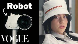 Billie Eilish Gets Interviewed By a Robot | Vogue thumbnail