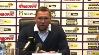 ФК «Олександрія» - ФК «Чорноморець» - 1:1. Прес-конференція О.Бабича