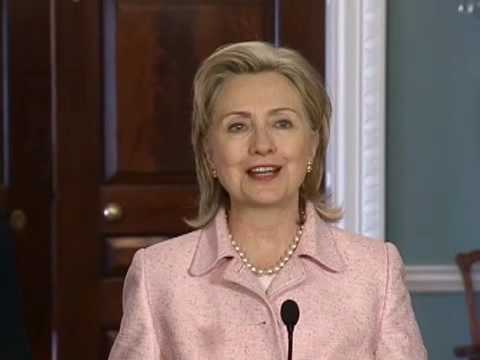 Secretary Clinton Holds Press Briefing With British Foreign
