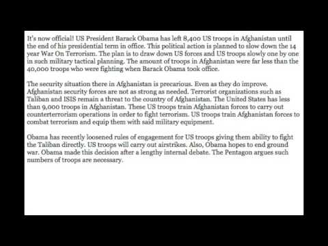 Obama leaves US troops in Afghanistan!
