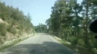 Turkey Kemer mountain road
