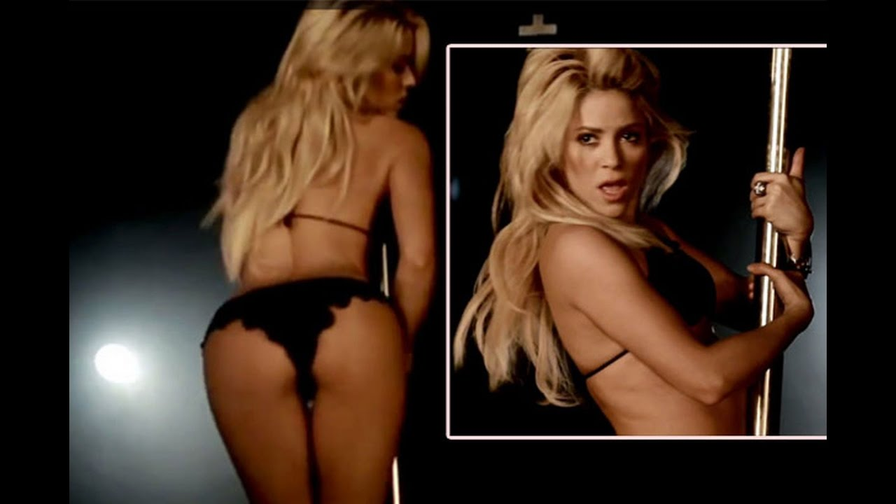 Shakira pole dances in bra and knickers for sexy rabiosa photo