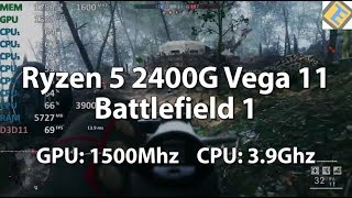 Ryzen 5 2400G Review Battlefield 1 Multiplayer 64. Gameplay Benchmark. Handling 64 Players with ease