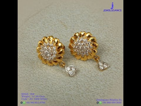 Latest Gold Small Earring Designs