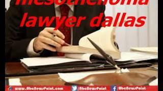 mesothelioma lawyer dallas