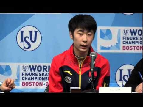2016 World Figure Skating Championships Men Medalists Press Conference HD