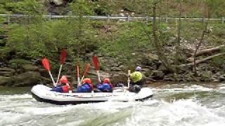 Ocoee River Rafting - Amy Surfing Hollywood
