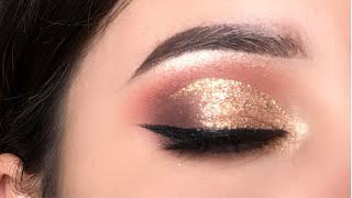 GOLDEN BRIDAL EYE MAKEUP STEP BY STEP IN NEPALI