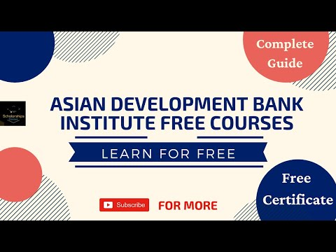 How to Apply for Asian Development Bank Institute Free Onlin