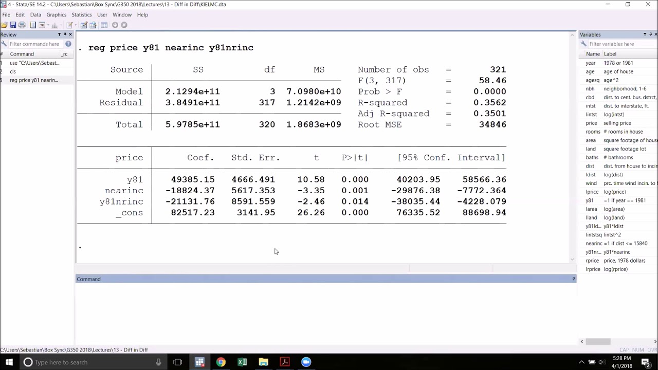 Difference in Differences Estimation in Stata