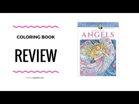 Beautiful Angels Coloring Book Review - Marjorie Sarnat
