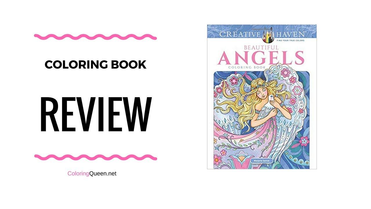 Beautiful Angels Coloring Book Review - Marjorie Sarnat - YouTube