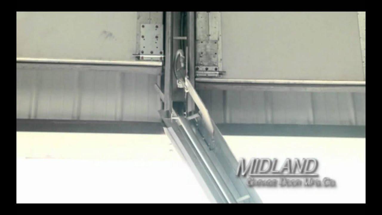 Midland Garage Door Swing Up Center Post System  sc 1 st  YouTube & Midland Garage Door Swing Up Center Post System - YouTube