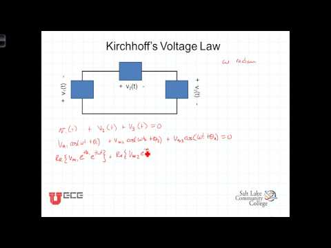L7 3 1 Kirchhoffs Laws With Phasors