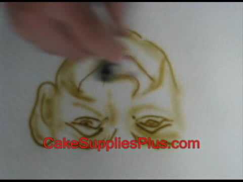 Cake decorating airbrush using aztek airbrush youtube for Airbrush cake decoration