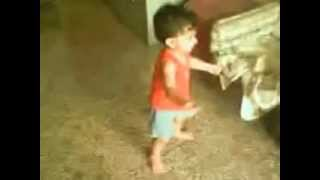 Little kid dancing to Indian Bollywood music
