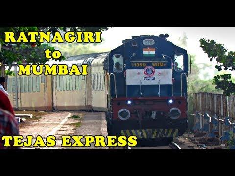 Ratnagiri - Mumbai Train Journey : Inside & Outside Coverage of TEJAS Express (Indian Railways)