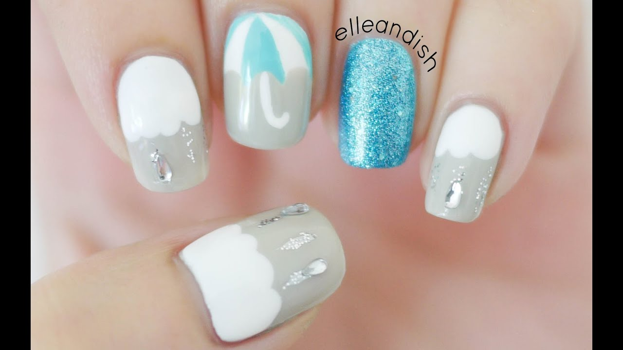 ☂ Rainy Day Nails ☂ - YouTube