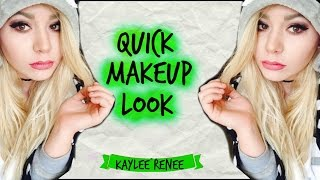 QUICK MAKEUP LOOK | Kaylee Renee