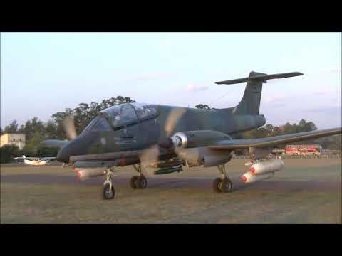 FMA IA 58 Pucara A 568 de la Fuerza Aérea Argentina en el Reconquista Vuela 2018 23 09 2018