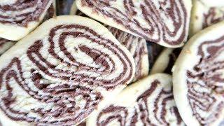 Песочное мраморное печенье  Пошаговый рецепт