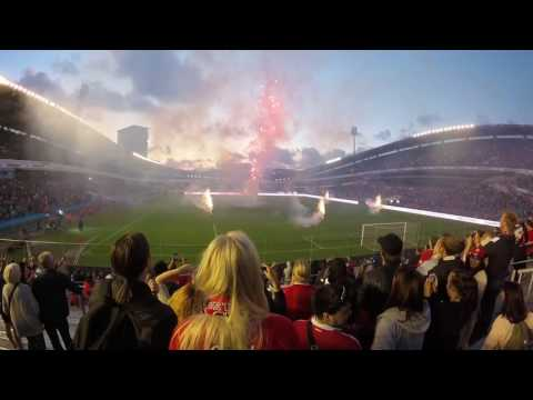 Fireworks After Supermatchen Manchester United Vs Galatasaray At Ullevi In Gothenburg, Sweden.