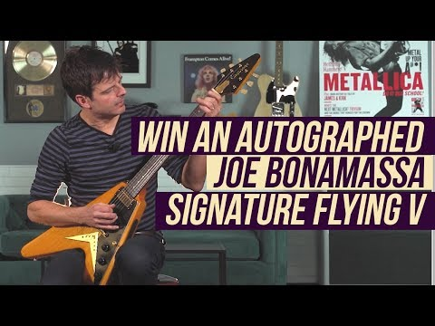 Win an Autographed Joe Bonamassa Flying V from Epiphone!