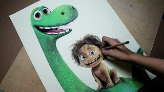 Speed Drawing: Arlo and Spot (The Good Dinosaur) | Diana Díaz