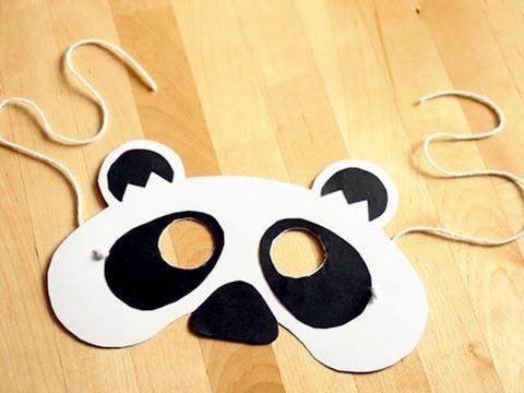 Cómo hacer una máscara de oso panda para Carnaval - YouTube