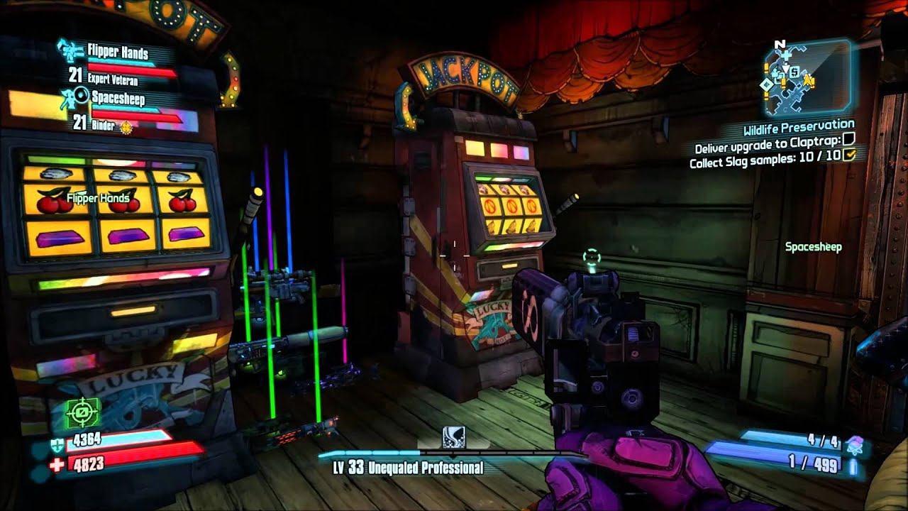 Borderlands 2 slot machine jackpot glitch