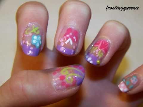 entry to toxicomana81's four seasons natural nail art