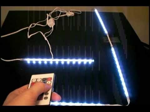 Ikea LED LIGHTS in the bedroom - YouTube