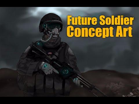 Future Sci Fi Soldier Concept Art Youtube