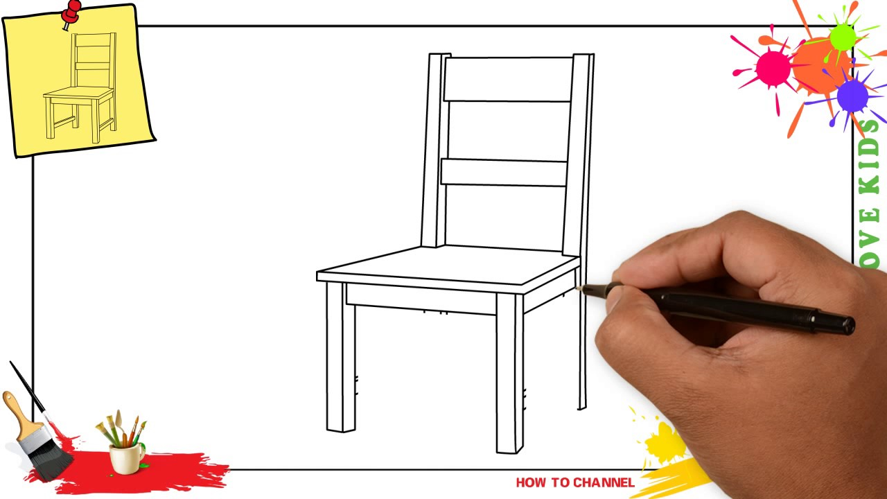Chair drawing for kids - How To Draw A Chair Simple Easy Step By Step For Kids