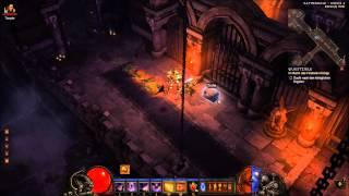 Diablo 3 1.0.7 PTR Testrun Dämonenjäger DH Akt 1 MP3 Skeleton King Skelettkönig