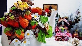 Como fazer frutas decorativas de papel reciclável por Darci Borges