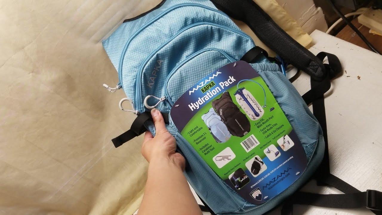 Mazama Kapka Hydration Pack with 3 Liter BPA Free and Taste Free USA Made...