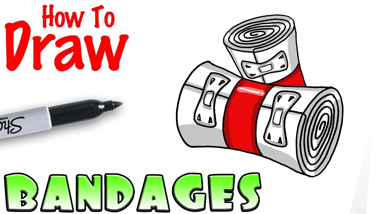 How To Draw Bandages Fortnite Youtube