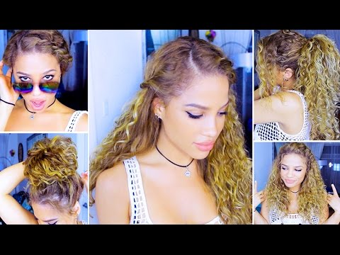5 Everyday Curly Hairstyles Youtube