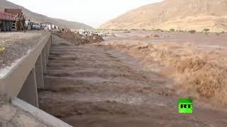 فيضان سد مأرب اليمني للمرة الأولى منذ 34 عاما