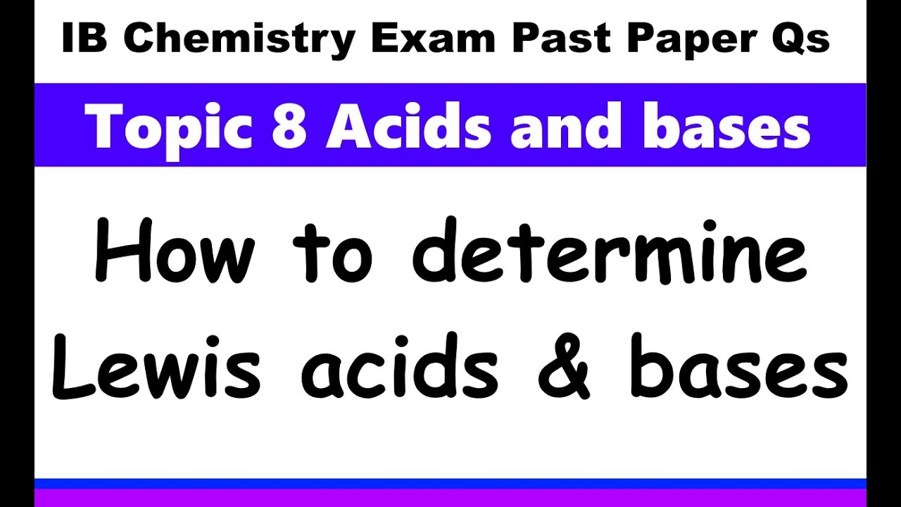 IB Chemistry Topic 8 Acids and bases - MrWeng's IB Chemistry