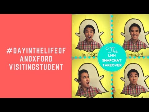 A day in the life of an Oxford Student - Visiting Student (Snapchat Takeover)