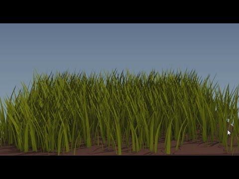 Как сделать траву в блендере