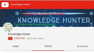 Knowledge Hunter : Introduction