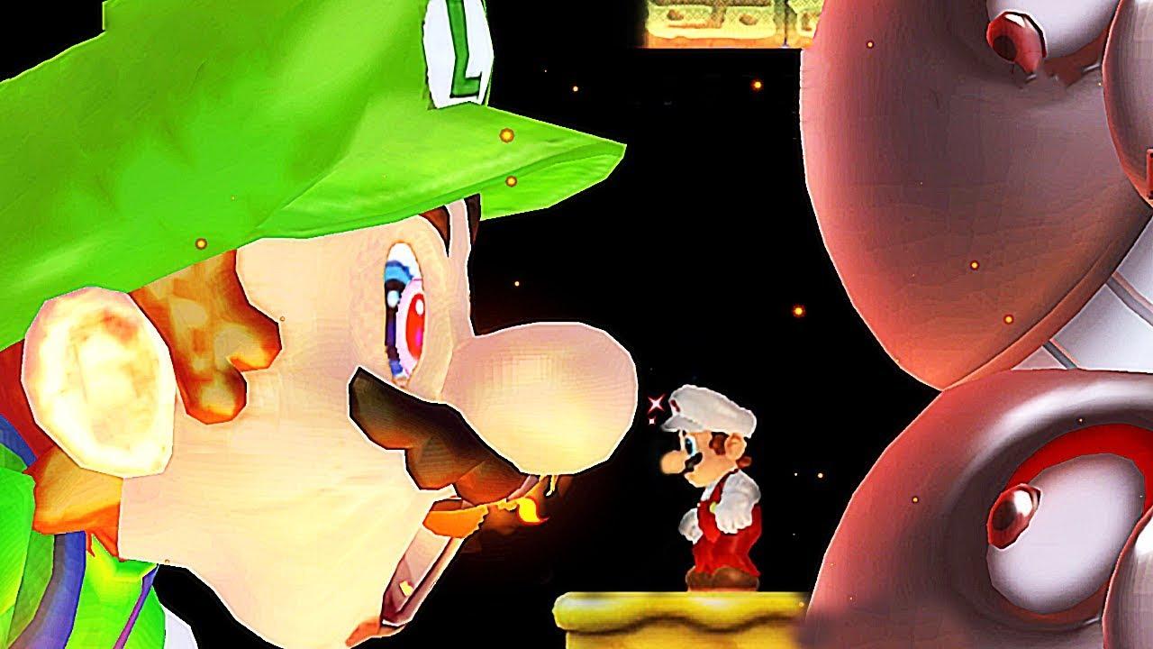 New Super Mario Bros. Wii - Mario Vs Luigi From Super Mario World Final Boss