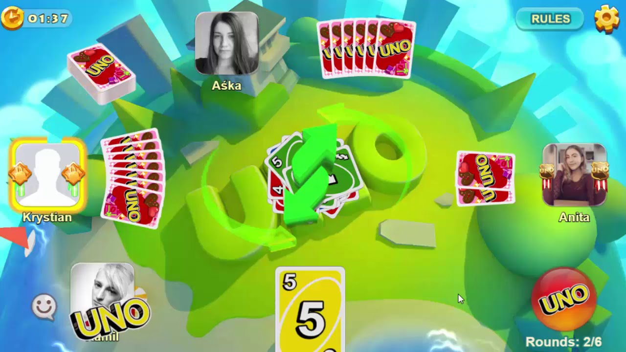 UNO game with friends! Messenger