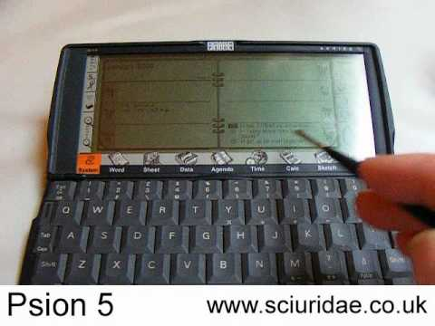 Psion 5 Review Video