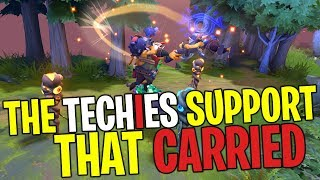 The Techies Support that Carried - DotA 2 Funny Moments